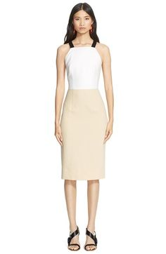 Cédric Charlier Colorblock Cotton Sheath Dress available at #Nordstrom