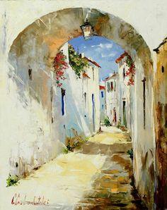 By Art: Gleb Goloubetski Art Watercolor, Watercolor Landscape, Landscape Paintings, Landscapes, Watercolor Architecture, Beautiful Paintings, Painting Inspiration, Style Inspiration, Painting & Drawing