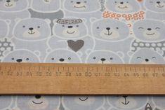 BAVLNĚNÁ PLÁTNA   dětské vzory   Medvědí tlačenice - oranžová   LÁTKY METRÁŽ   PATCHWORK   GALANTERIE