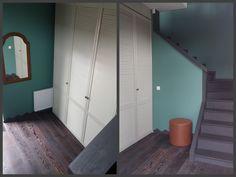 Elegantiškas ir paprastas sprendimas drabužinei.  Dar kelios detalės ir koridoriaus projektas bus baigtas.  Hall entrance project! Blind door closet!