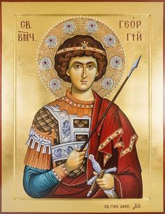 Whispers of an Immortalist: Icons of Martyrs 12 Religious Images, Religious Icons, Religious Art, Byzantine Art, Byzantine Icons, Saint George And The Dragon, Religious Paintings, Catholic Saints, Art Icon