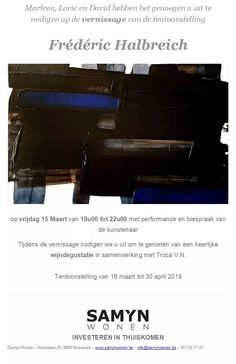 Frédéric Halbreich Exposition 15.03.2019 Chevrolet Logo, Artists, Blue, Artist