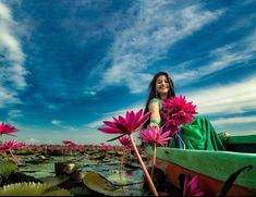 Lotus Flowers, Girl Photography, Photoshoot Ideas, Kerala, Fair Grounds, Culture, Traditional, Water, Artwork