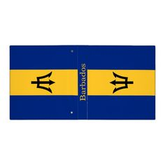 Patriotic Flag of Barbados 3 Ring Binder Custom Office Retirement #office #retirement