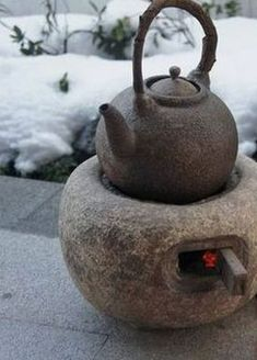 Outdoor Stove, Teapots Unique, Fire Cooking, Rocket Stoves, Chinese Tea, Tea Art, Tea Ceremony, Wabi Sabi, Chai