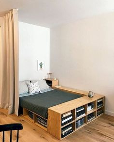 home decor for small spaces 35 Inspiration For Small Space Bedroom Decorating Ideas - Its not that difficult to purchase bedroom furniture for small spaces if you remember a few ground rules, for instance, when you are particularly lim. Diy Storage Ideas For Small Bedrooms, Small Bedroom Storage, Small Space Bedroom, Small Bedroom Designs, Small Storage, Bed Storage, Storage Organization, Small Bedroom Furniture, Small Space Furniture