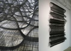 Weaving inspiration: BOUNCE braided nylon ribbon, monofilament by Meghan Price