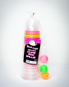 Black Light Beer Pong Kit - Or Girly drinks for the non beer drinkers :)