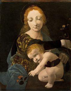 The Virgin and the Child // Ca. 1495 // GIOVANNI ANTONIO BOLTRAFFIO // Museo Poldi Pezzoli // #ChildJesus #VirginMary #motherhood