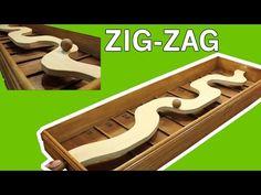 Zig Zag, un jeu en bois pou il faudra guidé une boule en bois sur les courbes de la piste