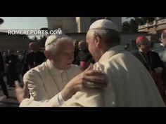 El encuentro de Benedicto XVI y el Papa Francisco en los Jardines Vaticanos