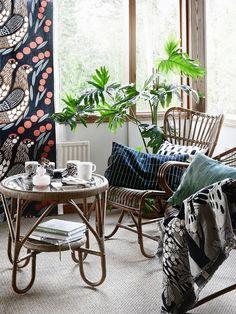 Photography for Marimekko Decorating Your Home, Interior Decorating, Decorating Ideas, Outdoor Furniture Sets, Outdoor Decor, Cool Ideas, Marimekko, Living Room Inspiration, Viera