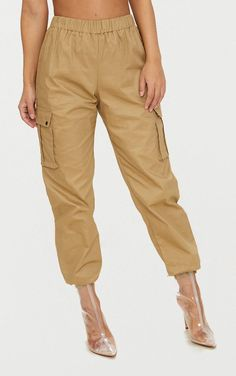 Petite Stone Pocket Detail Cargo Trousers | PrettyLittleThing USA
