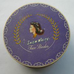 Vintage Sealed Snow White Face Powder In Purple Carton - Peach Rose Color