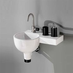 Sfera Plus - Perfekt lille håndvask med sidehylde, til små badeværelser