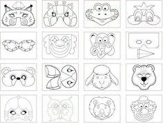 speciál: Karnevalové masky - šablony k vytisknutí | i-creative.cz - výtvarné nápady a omalovánky k vytisknutí