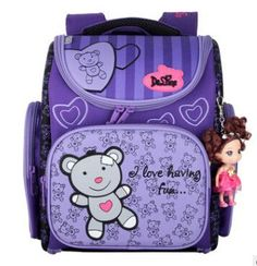 Children School Bags for Girls Cute Bear Waterproof Orthopedic School  Backpacks With Doll Pendant Kids Book Bag Mochila Escolar f444655fee