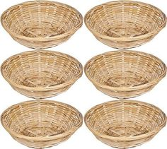 Shop for Set Of 6 Vintage Round Natural Bamboo Wicker Bread Basket Storage Hamper Trays. Starting from Choose from the 2 best options & compare live & historic material handling prices. Wicker Basket Storage Unit, Wicker Basket Drawers, Wooden Basket, Wicker Tray, Basket Shelves, Shabby Chic Drawers, Shabby Chic Storage, Baby Baskets, Gift Baskets