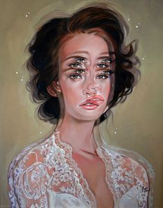 Gorgeously Surreal Portraits Painted to Resemble Double Vision via My Modern Met