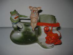 Cigarette Holder, Vintage Ashtray, Pigs, Decorative Bells, Devil, German, Porcelain, China, Ebay