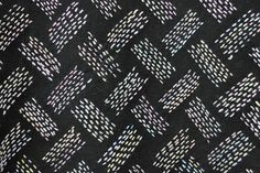 2011 show of the work of Okada Akiradai - teacher of embroidery - and her pupils. (Text in Japanese, I think that's the gist...) This is a small detail of an amazing kimono is allover sashiko in a basketweave pattern. Entire kimono shown at  https://www.pinterest.com/pin/38702878027719977/
