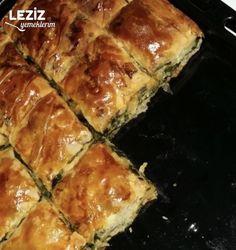 Ispanaklı El Açması Börek - Leziz Yemeklerim Pastry Recipes, Brunch, Spanakopita, Easy Dinner Recipes, Quiche, Food And Drink, Appetizers, Breakfast, Ethnic Recipes