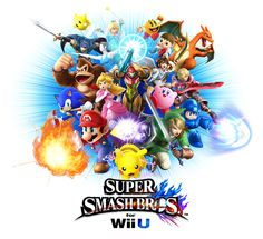 ssb new cover Nintendo 2ds, Nintendo Party, Nintendo Games, Wii Fit, Donkey Kong, Super Mario Smash Bros, Crossover, Animal Crossing, Baby Boy Birthday
