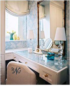 elegant vanity from Lonny/TradHome