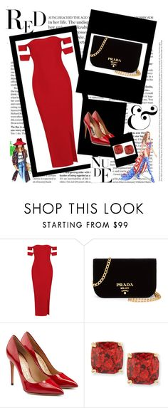 """33"" by jassemin ❤ liked on Polyvore featuring Prada, Salvatore Ferragamo, Kate Spade, WALL and Victoria's Secret"