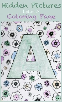 Hidden Pictures Letter A Coloring Page - My Little Me