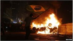 Protests in Brazil due to rising public transport costs and the cost of staging the 2014 World Cup.