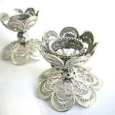 gorgeous sterling silver filigree candle holders from adiaart on Etsy $162  #candlesticks #home #decor