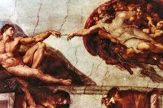 god and adam cistine chapel   Michelangelo - Sistine Chapel Creation of Adam at the Vatican - Rome ...
