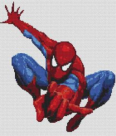 "Superhero Spiderman 2 Counted Cross Stitch Kit 10"" x 12"""