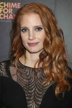 Jessica Chastain blonde hair color idea