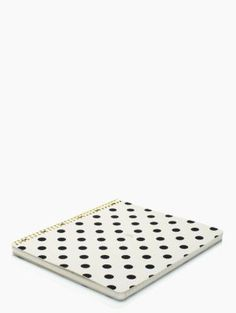 So Well Composed Large Spiral Notebook - kate spade new york | put a little pep in your work day, study session or laundry list of to-dos with our large spiral notebook in artsy deco dots. with 160-lined pages, it's fit to hold a day's worth of lists and doodles and will pack a punch next to your floral skirt.