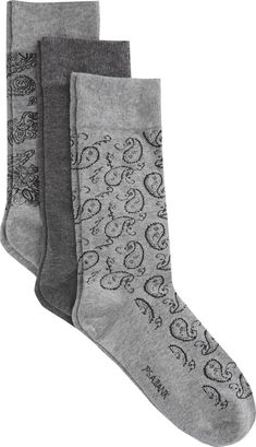 Solid Paisley 3-Pack Socks CLEARANCE