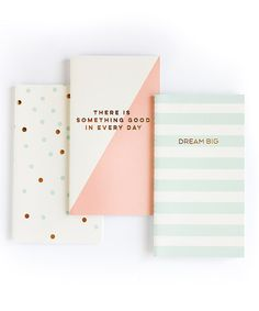 These mini notebooks make great purse and planner accessories, they fit perfectly! Package includes: 3 notebooks with 3 unique designs Each notebook has 30 blank pages Size: Trend Collection by My Mind's Eye Paper Goods
