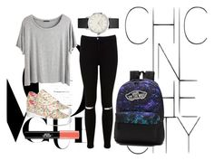 """""""school"""" by crsharma ❤ liked on Polyvore featuring Chicnova Fashion, Miss Selfridge and Vans"""