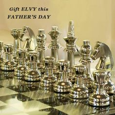 How about a game of Chess with dad.. This Father's day, gift a Chessboard and cherish the never ending games of chess. #SHOPNOW at www.elvy.com .