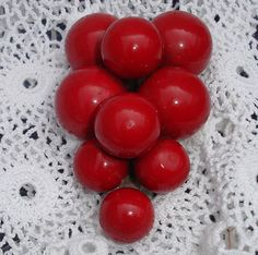 Blazing RED Cherries Dress Clip by SheilasTreasures on Etsy