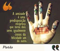 Frase de amizade e felicidade - Platão