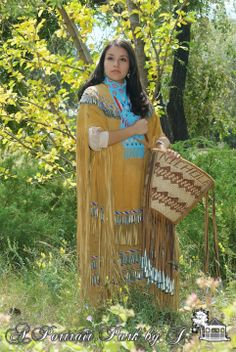 High School Senior Girl...with her native dress and basket...Just Beautiful!