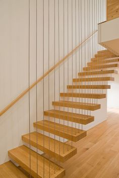 Cantelevered or cantilevered stairs.