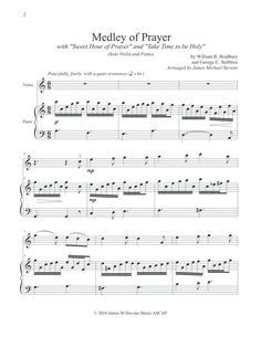 Medley of Prayer (Sweet Hour of Prayer/Take Time to be Holy) - VIOLIN