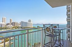 Private balcony at Yacht Club at Brickell Apartments, Miami, FL