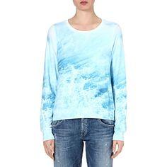 WILDFOX Sandbar wave-print sweatshirt (Blue