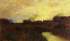 The Athenaeum - River Landscape at Dusk (Bruce Crane - )