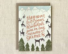 reindeer games holiday card | Wit & Whistle