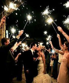 wedding photo with sparklers send off #weddingdecor #weddingsparkles #weddingsparklers #sparklersendoff #weddingideas #fallweddings #weddinginspiration